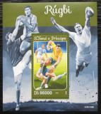 Poštovní známka Svatý Tomáš 2016 Rugby Mi# Block 1190 Kat 10€
