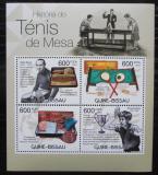 Poštovní známky Guinea-Bissau 2012 Historie stolního tenisu Mi# 5872-75 Kat 9.50€