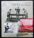 Poštovní známka Guinea-Bissau 2012 Historie stolního tenisu Mi# Block 1037 Kat 12€