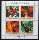 Poštovní známky Svatý Tomáš 2004 Orangutani Mi# 2609-12
