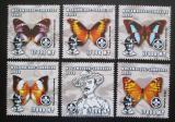 Poštovní známky Mosambik 2002 Motýli, skauting Mi# 2458-63 Kat 12.50€
