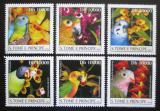 Poštovní známky Svatý Tomáš 2003 Papoušci a orchideje Mi# 2085-90 Kat 20€