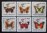 Poštovní známky Svatý Tomáš 2003 Motýli Mi# 2013-18 Kat 10€