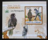 Poštovní známka Komory 2009 Papoušci DELUXE Mi# 2390 Block