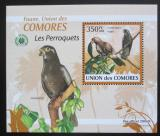 Poštovní známka Komory 2009 Papoušci DELUXE Mi# 2391 Block