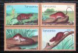Poštovní známky Tanzánie 1996 Čínský nový rok, rok krysy Mi# 2348-51