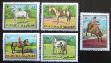 Poštovní známky Fudžajra 1970 Koně Mi# 582-86