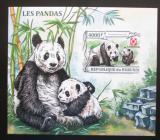 Poštovní známka Burundi 2013 Pandy neperf. Mi# N/N