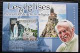 Poštovní známka Guinea 2010 Papež Jan Pavel II. a památky Mi# Block 1836 Kat 10€