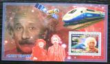 Poštovní známka Guinea 2006 Albert Einstein, lokomotivy Mi# Block 992