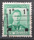 Poštovní známka Nový Zéland 1941 Král Jiří VI. přetisk Mi# 268