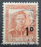 Poštovní známka Nový Zéland 1953 Král Jiří VI. přetisk Mi# 327