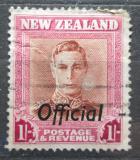 Poštovní známka Nový Zéland 1947 Král Jiří VI. úřední Mi# 76
