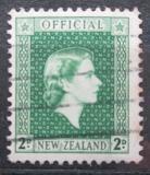 Poštovní známka Nový Zéland 1954 Královna Alžběta II. úřední Mi# 80
