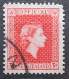 Poštovní známka Nový Zéland 1954 Královna Alžběta II. úřední Mi# 82
