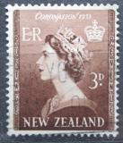 Poštovní známka Nový Zéland 1953 Královna Alžběta II. Mi# 323