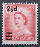 Poštovní známka Nový Zéland 1961 Královna Alžběta II. přetisk Mi# 418