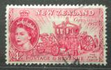 Poštovní známka Nový Zéland 1953 Královský kočár Mi# 324