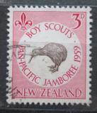 Poštovní známka Nový Zéland 1959 Kivi jižní Mi# 381