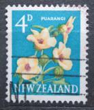 Poštovní známka Nový Zéland 1960 Ibišek trojdílný Mi# 397