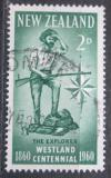 Poštovní známka Nový Zéland 1960 Výzkumník Mi# 389