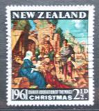Poštovní známka Nový Zéland 1961 Vánoce, umění, Albrecht Dürer Mi# 419
