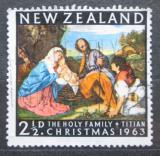 Poštovní známka Nový Zéland 1963 Vánoce, umění, Tizian Mi# 427