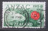 Poštovní známka Nový Zéland 1965 ANZAC, 50. výročí Mi# 438