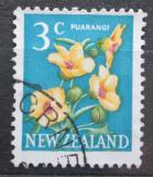 Poštovní známka Nový Zéland 1967 Ibišek trojdílný Mi# 460