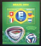 Poštovní známka Guinea-Bissau 2014 MS ve fotbale, skupina E Mi# Block 1260 Kat 8€