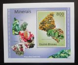 Poštovní známka Guinea-Bissau 2010 Minerály DELUXE Mi# 4989 Block