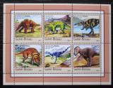 Poštovní známky Guinea-Bissau 2001 Dinosauři Mi# N/N