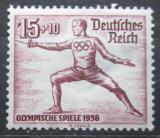 Poštovní známka Německo 1936 LOH Berlín, šerm Mi# 614 Kat 45€