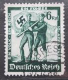 Poštovní známka Německo 1938 Nacistická vlajka Mi# 662