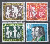Poštovní známky Německo 1959 Pohádky bratří Grimmů Mi# 322-25 Kat 7.50€