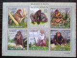 Poštovní známky Svatý Tomáš 2010 Opice Mi# 4459-63 Kat 11€