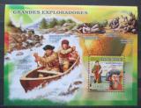 Poštovní známka Guinea-Bissau 2012 Slavní objevitelé Mi# Block 589 Kat 12€