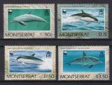Poštovní známky Montserrat 1990 Delfíni, WWF Mi# 786-89 Kat 16€