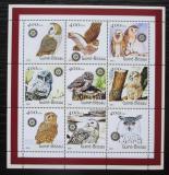 Poštovní známky Guinea-Bissau 2001 Sovy Mi# 1428-36 Kat 10€
