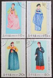 Poštovní známky KLDR 1977 Národní kostýmy Mi# 1600-03 - zvětšit obrázek
