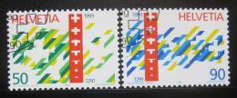 Poštovní známky Švýcarsko 1991 Švýcarská konfederace Mi# 1421-22 - zvětšit obrázek