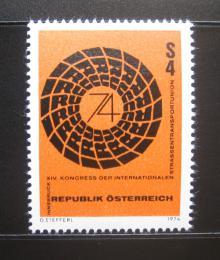 Poštovní známka Rakousko 1974 Dopravní kongres Mi# 1453 - zvětšit obrázek