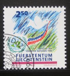 Poštovní známka Lichtenštejnsko 1991 Členství v OSN Mi# 1015 - zvětšit obrázek
