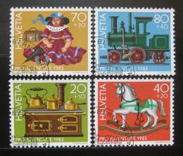 Poštovní známky Švýcarsko 1983 Antické hračky Mi# 1260-63 - zvětšit obrázek