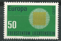 Poštovní známka Lichtenštejnsko 1970 Evropa CEPT Mi# 525 - zvětšit obrázek