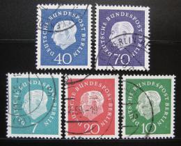 Poštovní známky Západní Berlín 1959 Prezident Heuss Mi# 182-86 Kat 20€ - zvětšit obrázek