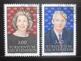 Poštovní známky Lichtenštejnsko 1991 Knížecí pár Mi# 1024-25 - zvětšit obrázek