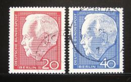 Poštovní známka Západní Berlín 1964 Prezident Heinrich Lübke Mi# 234-35 - zvětšit obrázek