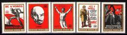 Poštovní známky Maďarsko 1969 Revoluční plakáty Mi# 2486-90 - zvětšit obrázek