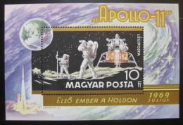 Poštovní známka Maďarsko 1969 Projekt Apollo 11 Mi# Block 72 - zvětšit obrázek